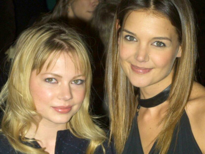 Michelle Williams con Katie Hokmes, protagoniste di Dawson's Creek