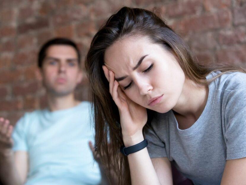 situazione tesa fra un uomo e una donna