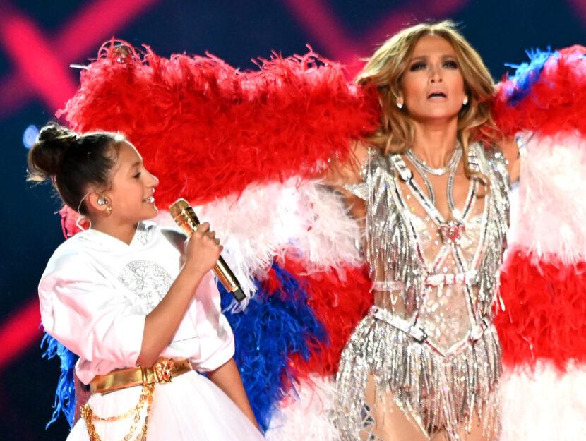Super Bowl Jennifer Lopez figlia Emme