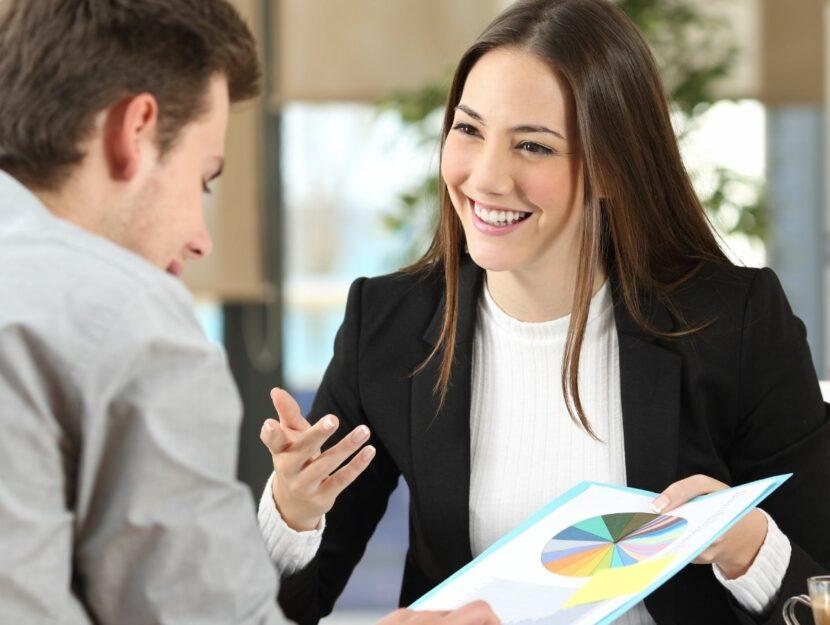 business woman e impiegato