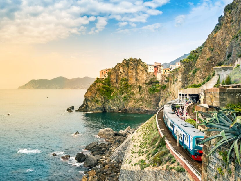Manarola Cinque Terre treno Liguria