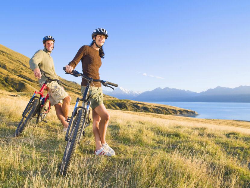 Ragazzi bici campagna