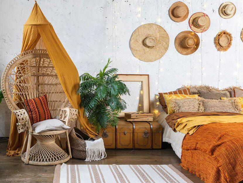 camere da letto boho chic