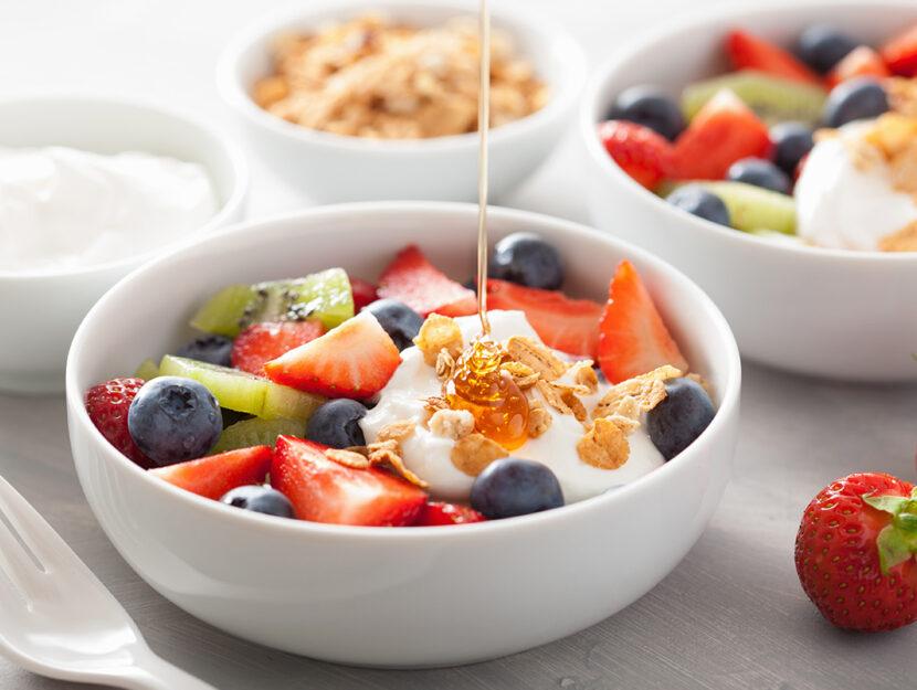 colazione con la frutta