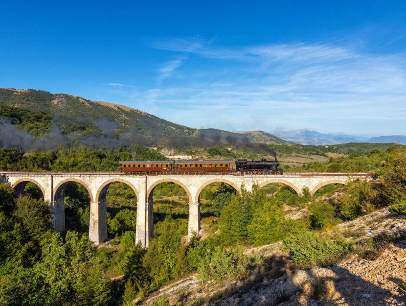 Treno a vapore Abruzzo