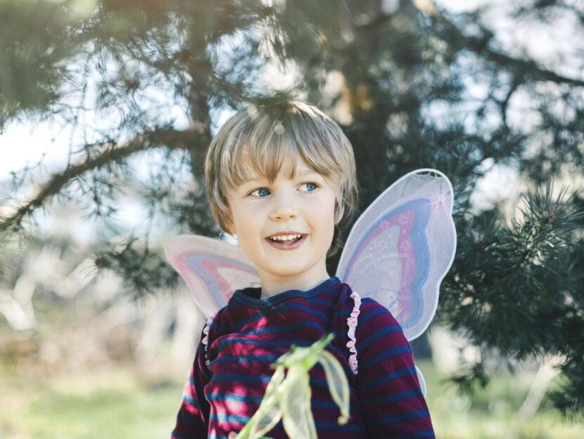Bambino con le ali