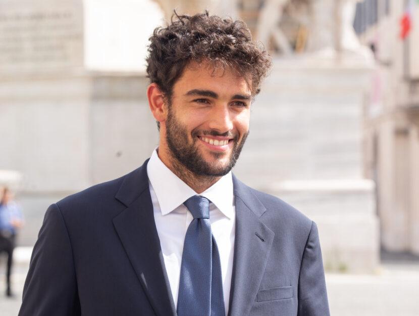 Matteo Berrettini al Quirinale durante le celebrazioni per la vittoria della Nazionale di calcio, Ro