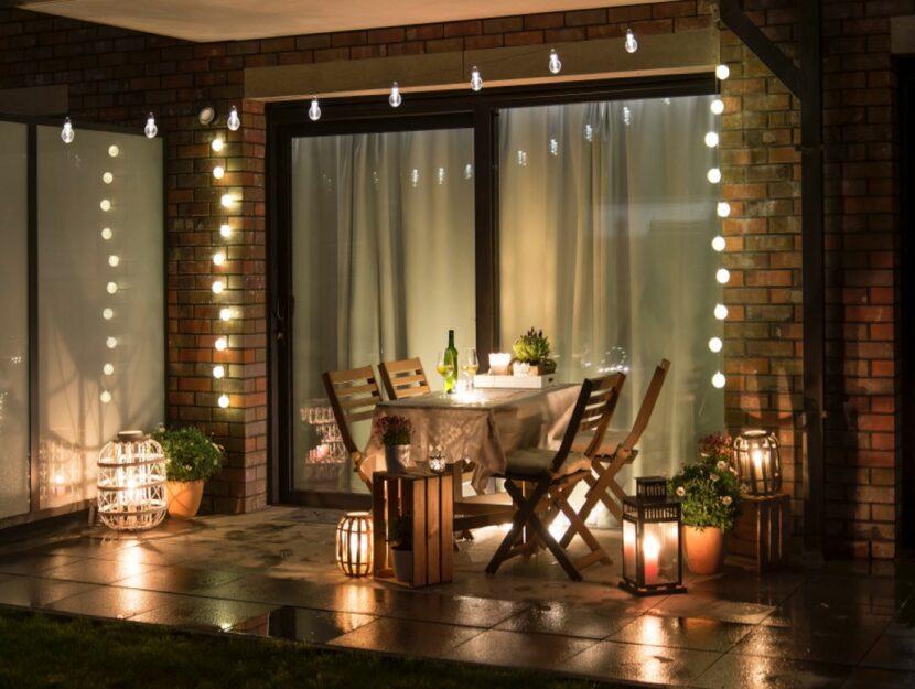 fili luci arredo esterno
