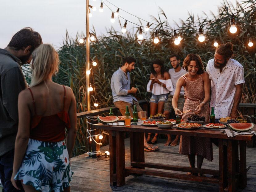 Party in terrazza
