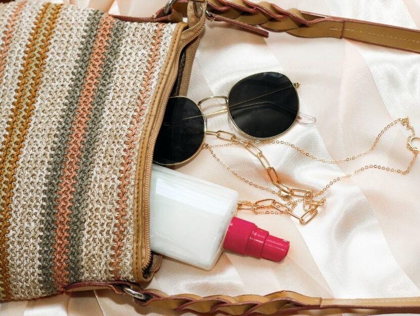 protezione solare in borsetta