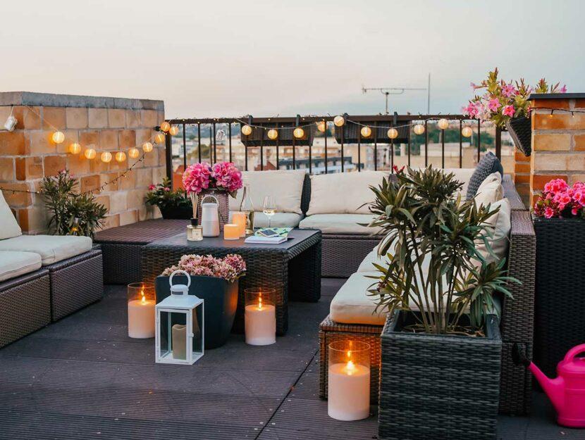 trasformare terrazza in un'oasi urbana