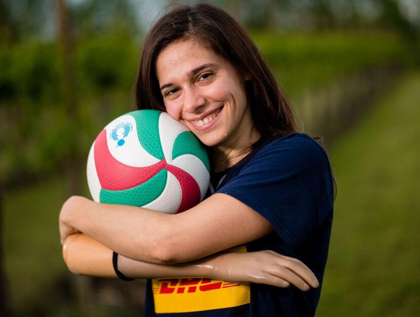 Silvia Biasi sitting volley atleta parolimpica