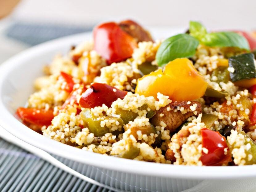 cous cous con carne e verdure