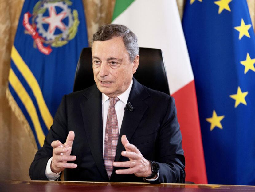 premier Mario Draghi agosto 2021