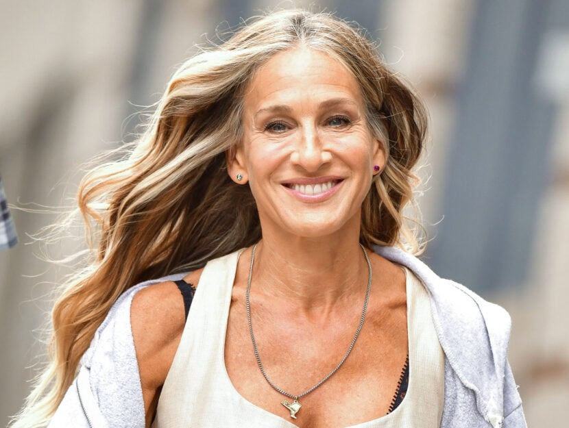 """Sarah Jessica Parker """"And Just Like That..."""" the follow up series to """"Sex and the City"""" in NoHo on July 14, 2021 in New York City"""