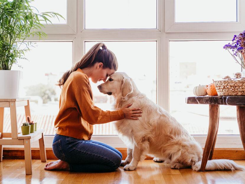 Donna con il cane