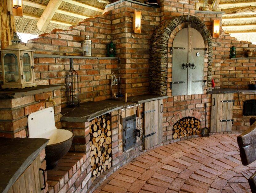 cucina all'aperto, cucina in muratura da esterni