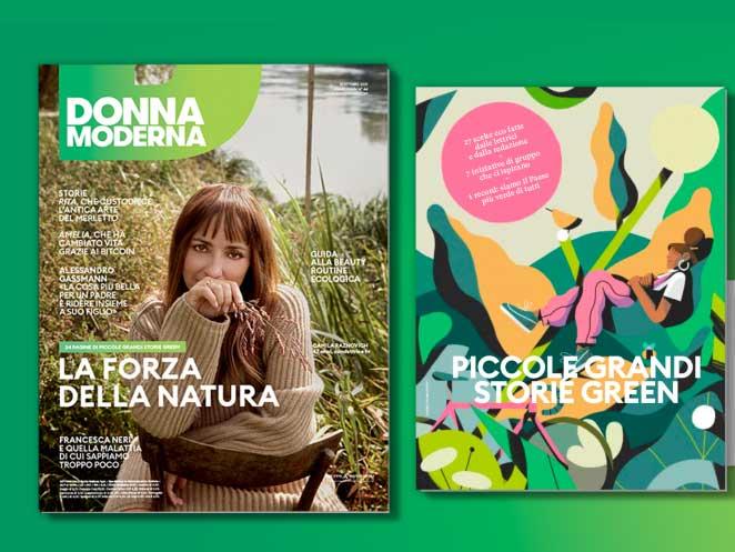 Donna Moderna green ottobre 2021