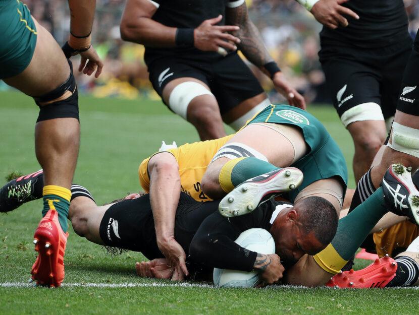 Una partita tra gli All Blacks neozelandesi e gli Australian Wallabies, 18 ottobre 2020, Auckland